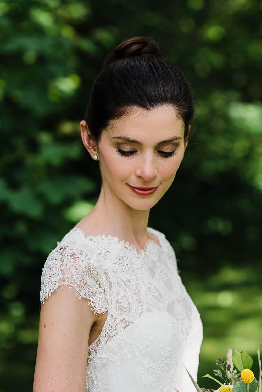 bridal portrait of woman that resembles audrey hepburn